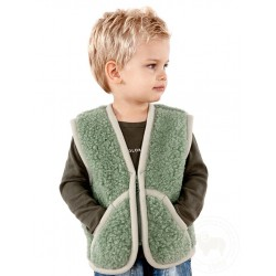 Dětská vesta z ovčí vlny...
