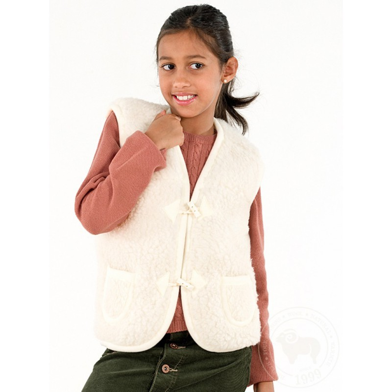 Dětská vesta z ovčí vlny Alpen vel. M