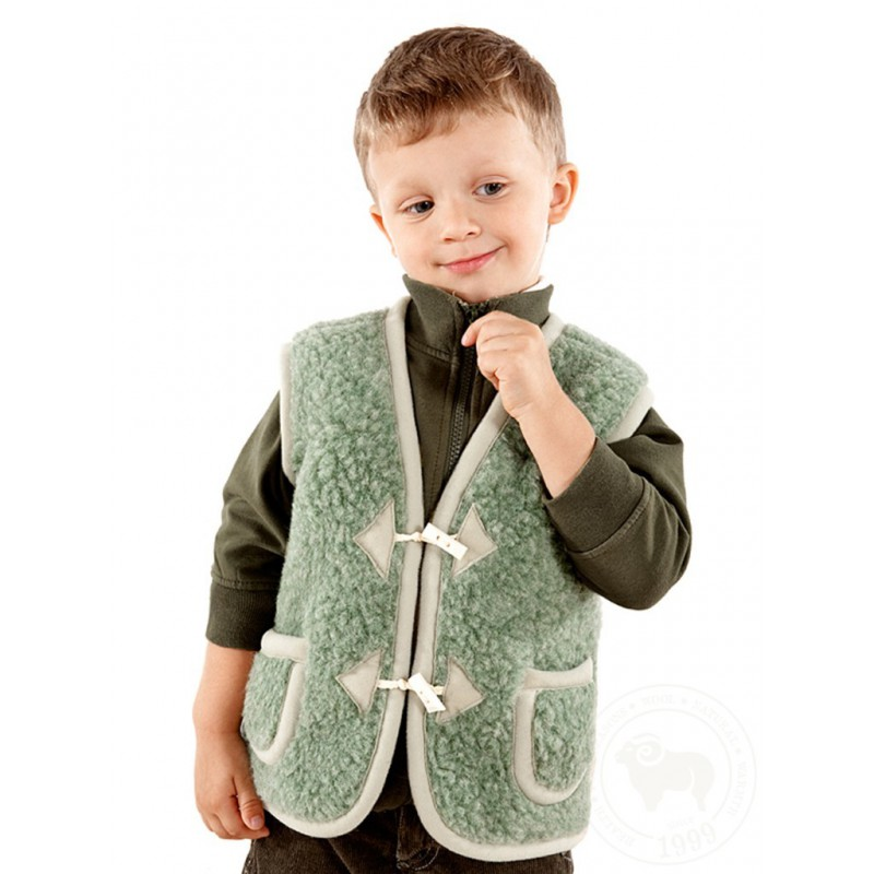 Dětská vesta z ovčí vlny Alpen vel. S