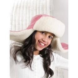 Dětská čepice ušanka z ovčí vlny