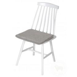 Podsedák na židli z ovčí vlny 40x40cm světle šedý www.vyrobkyzovcivlny.cz