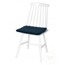 Podsedák na židli z ovčí vlny 40x40cm tmavě modrý www.vyrobkyzovcivlny.cz