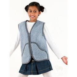 Dětská vesta z ovčí vlny Carpathian vel.XS