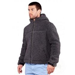 Pánská zimní bunda z ovčí vlny - Adventure tmavě šedá www.vyrobkyzovcivlny.cz