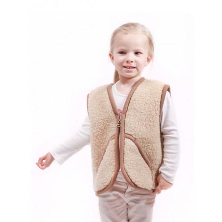 Dětská vesta z ovčí vlny Carpathian vel.S