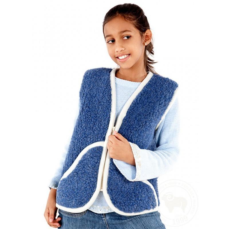 Dětská vesta z ovčí vlny Carpathian vel XL