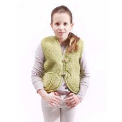 Dětská vesta z ovčí vlny Alpen vel XS