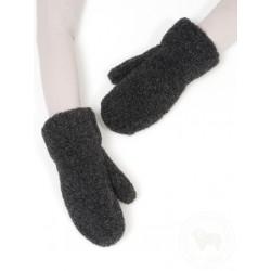 Dětské rukavice s elastickou šňůrkou černé www.vyrobkyzovcivlny.cz