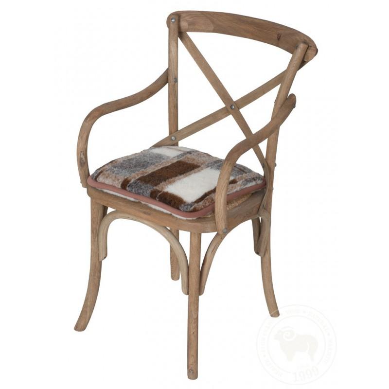 Podsedák na židli z ovčí vlny 40x40cm kostky www.vyrobkyzovcivlny.cz